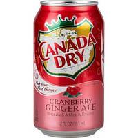 Газированный напиток Canada Dry Cranberry Ginger Ale 355 ml
