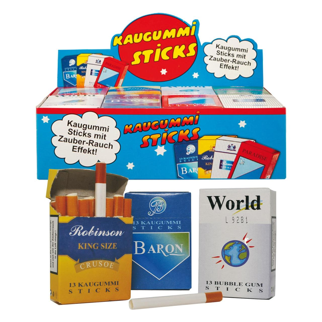 Жевательные сигареты Kaugummi  Bubble Gum Sticks Smoke 44 g