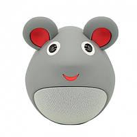 Беспроводная детская колонка игрушка Мышка iCutes, серая