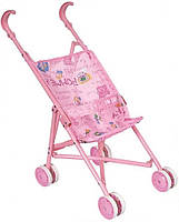 Детская игрушечная коляска-трость для пупсов Maya Toys, розовая