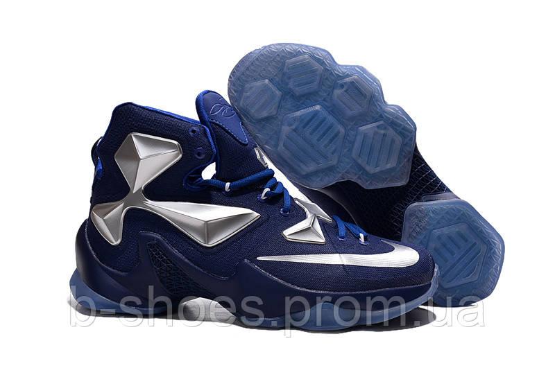 Мужские баскетбольные кроссовки Nike Lebron 13 (Blue/Silver)