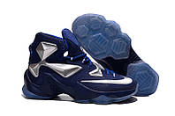 Мужские баскетбольные кроссовки Nike Lebron 13 (Blue/Silver), фото 1