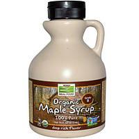 Кленовый сироп Maple Syrup Now Foods Organic grade А 473 ml