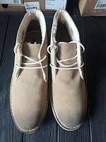 Мужские зимние кожаные ботинки с мехом ASOS, фото 1