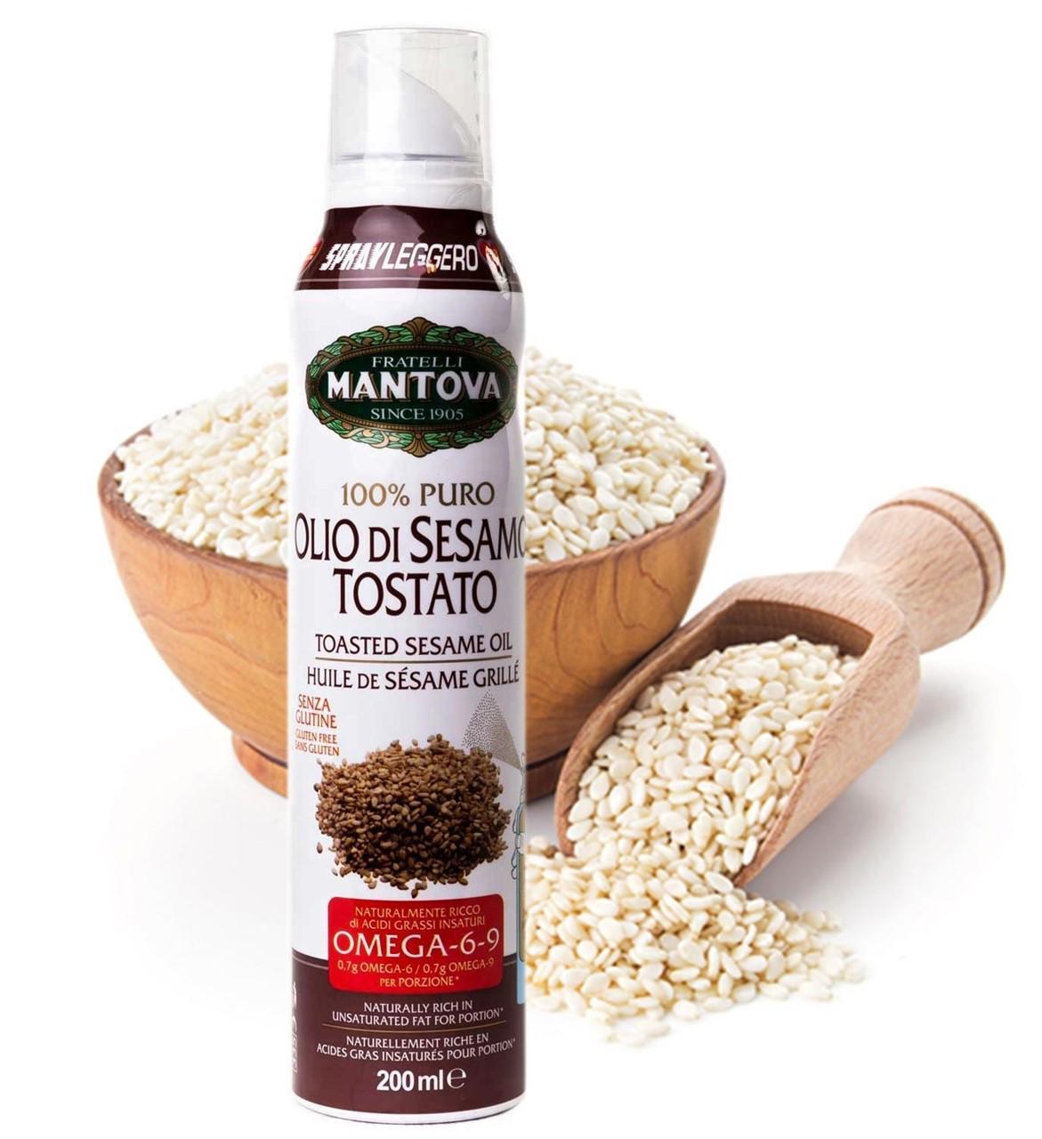 Масло спрей Mantova Olio di Sesamo Tostato Spray с кунжутом