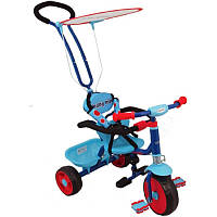 Велосипед трехколесный с родительской ручкой ALEXIS SW-J-23, голубой (4204)