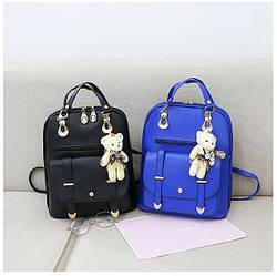 Кожаные рюкзаки женские, городские, школьные