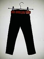 Модные джинсы для девочки черные с поясом размеры 80-92