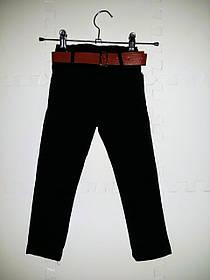 Модные джинсы для мальчика черные с поясом размеры 80-92