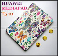 Белый чехол с цветными бабочками для Huawei Mediapad T5 10 AGS2-L09 AGS2-W09