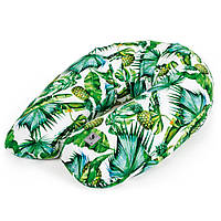 U образная подушка для беременных Ceba Baby Physio Multi Flora & Fauna Pina 190x35 см, зеленая