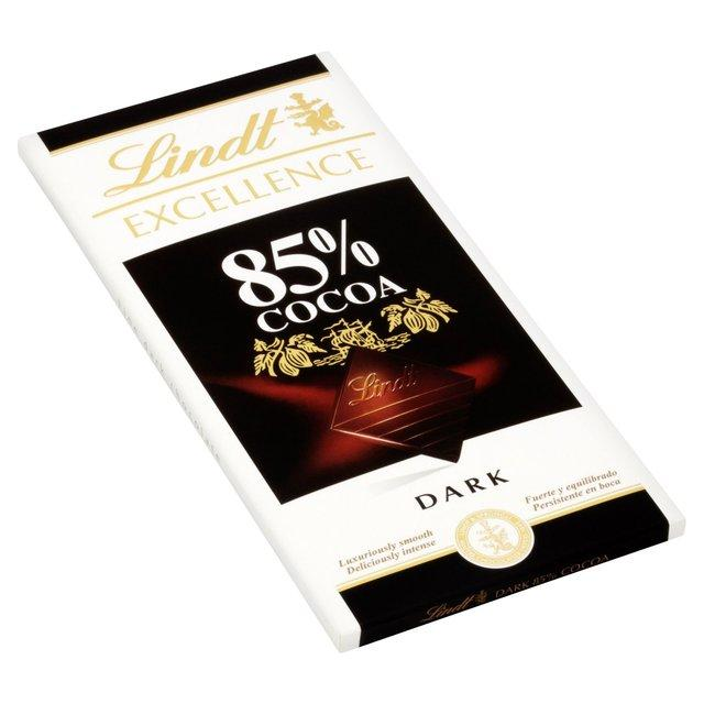 Lindt Excellence Dark Chocolate 85% Cocoa 100 g