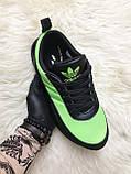 Мужские кроссовки Adidas Sharks Green Black, мужские кроссовки адидас шарк, фото 2