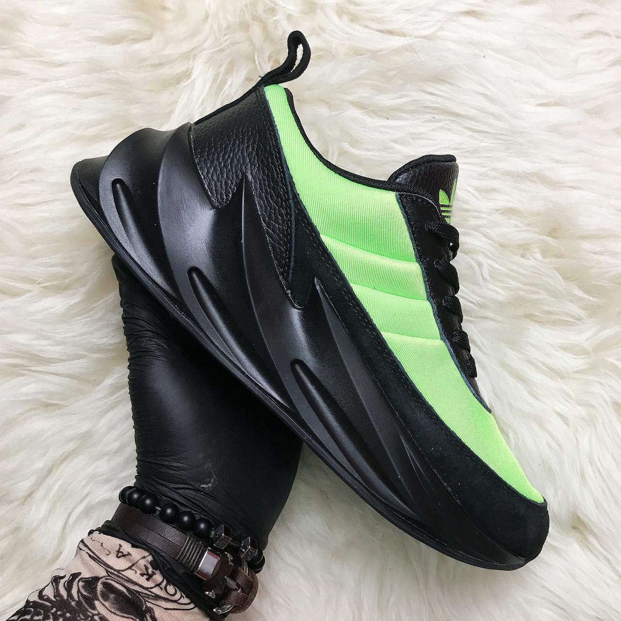 Мужские кроссовки Adidas Sharks Green Black, мужские кроссовки адидас шарк