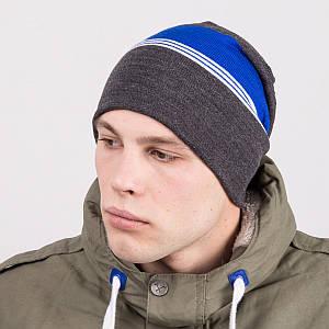 Вязаная шапка колпак на зиму мужская - Артикул m67a