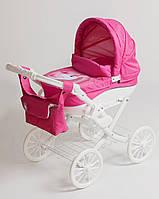 Игрушечная детская коляска для кукол Adbor Lily White единорог, розовая