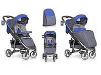 Детская прогулочная коляска Easy Go Virage Sapphire, голубая с серебристым (5010)