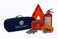 Сумка-набор автомобилиста на два отдела на молнии Poputchik, Volkswagen легковой, 50х18х17 см., синий