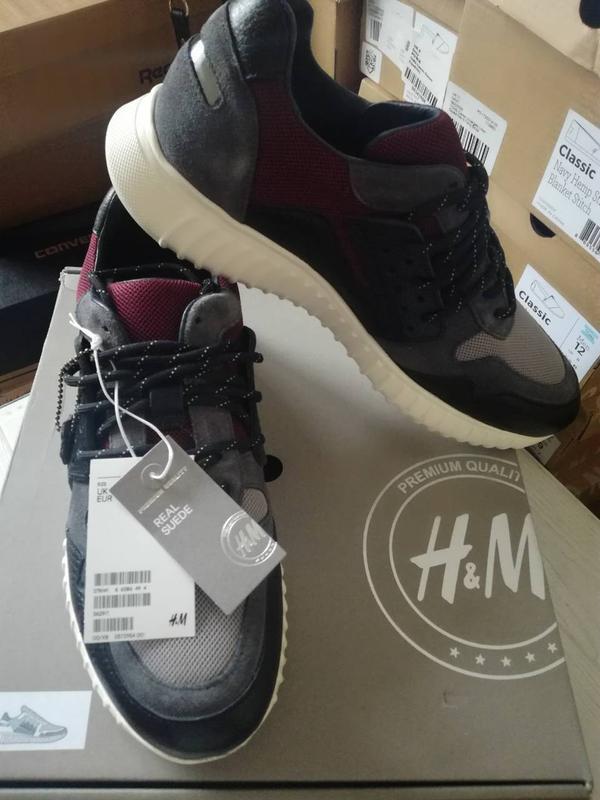 Новые мужские кроссовки h&m кожа оригинал 100% из англии