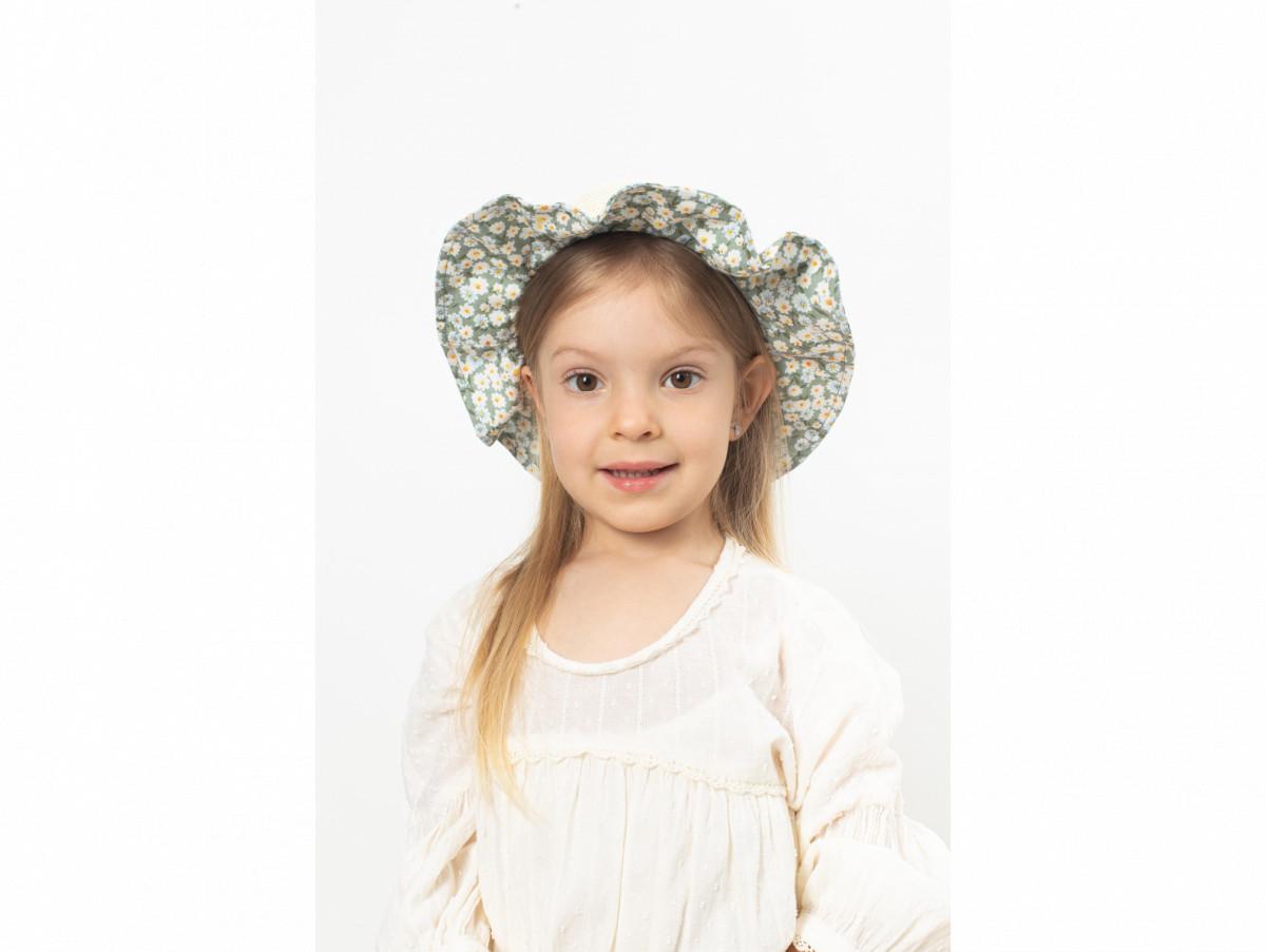 Детская шляпа Мэри оптом зелёная