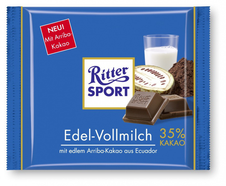 Шоколад  Mini Ritter Sport Edel - Vollmilch 16 g