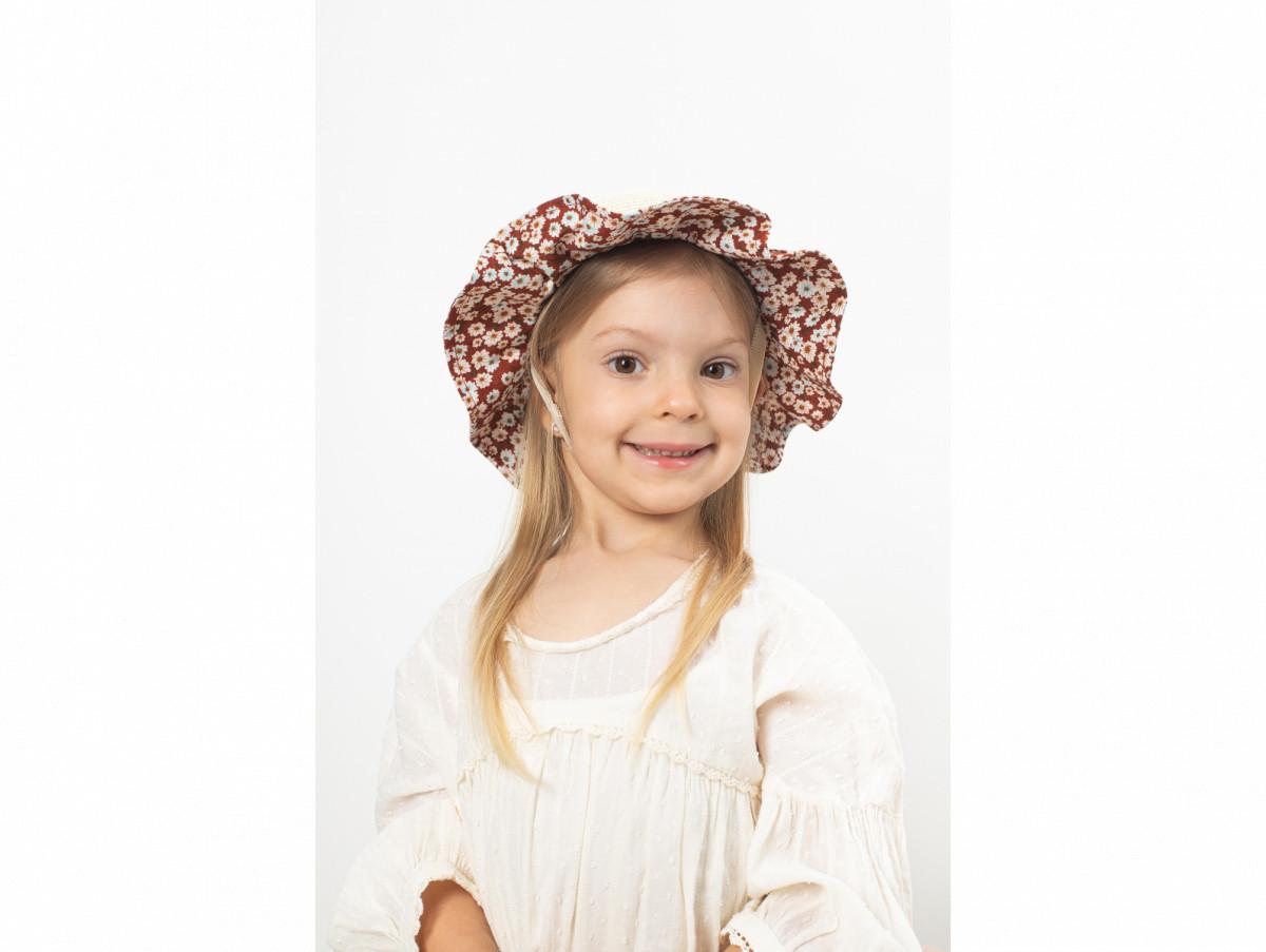 Детская шляпа Мэри оптом бордовая