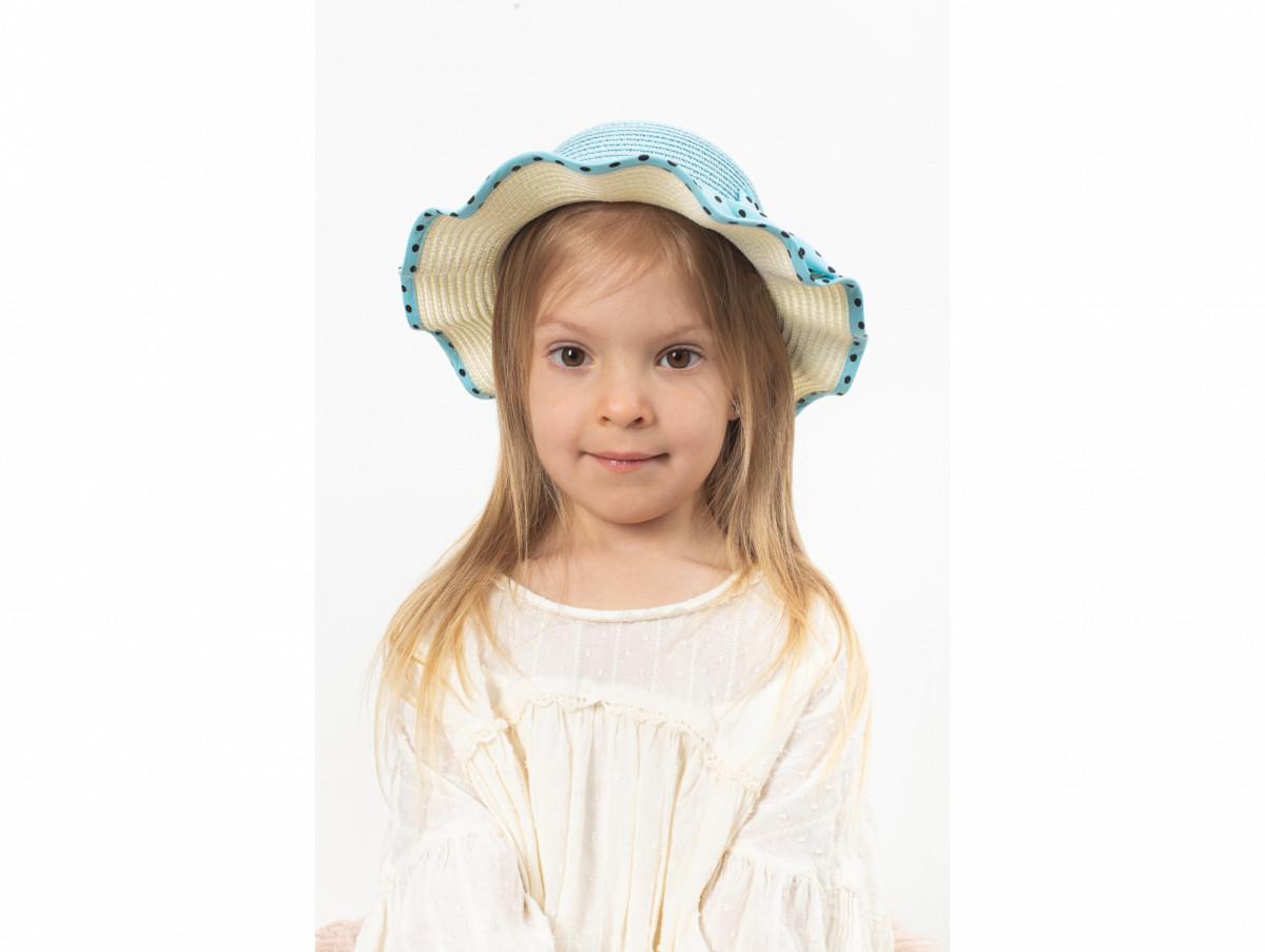 Детская шляпа Фант оптом голубая