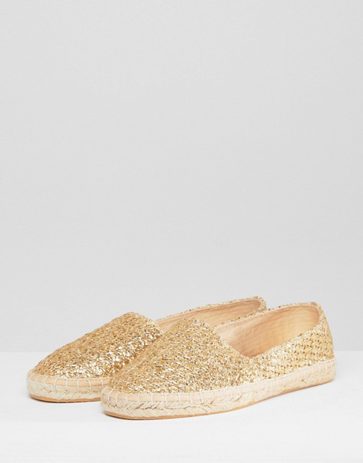 Эспадрильи ASOS JALLY Gold