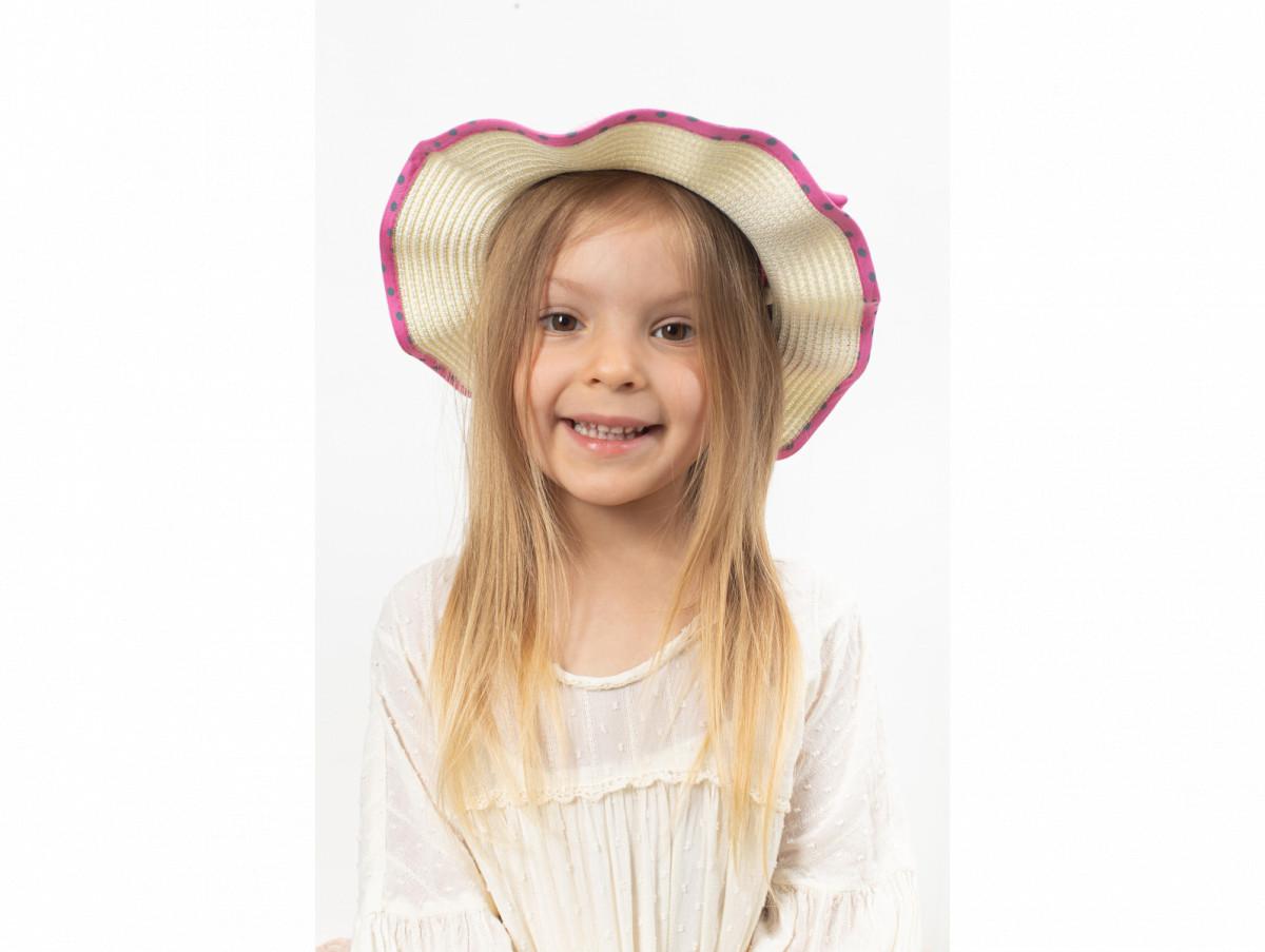 Детская шляпа Фант оптом розовая