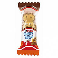 Батончики Kinder Happy Hippo cacao 1 бегемотик