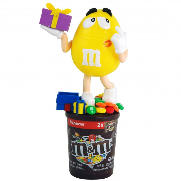 Диспенсер M&M´s жёлтый с подарком