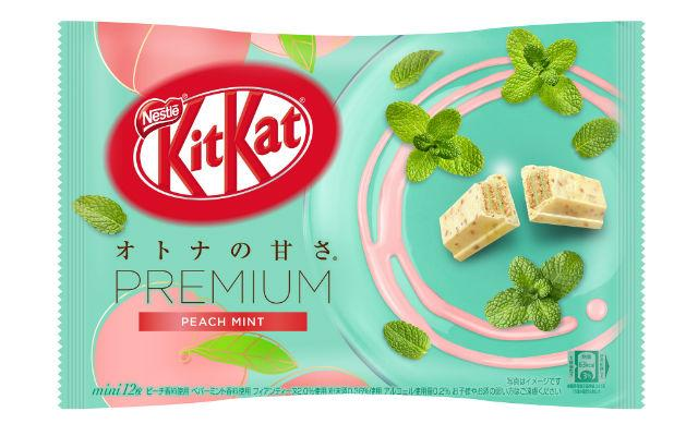 Шоколад  Kit Kat Premium Peach Mint Упаковка