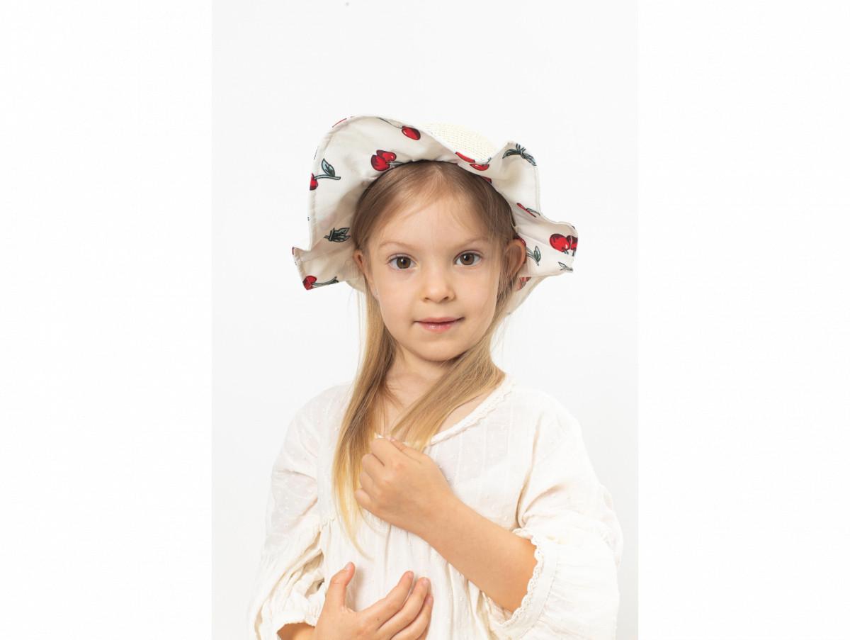 Детская шляпа Манк оптом молочная
