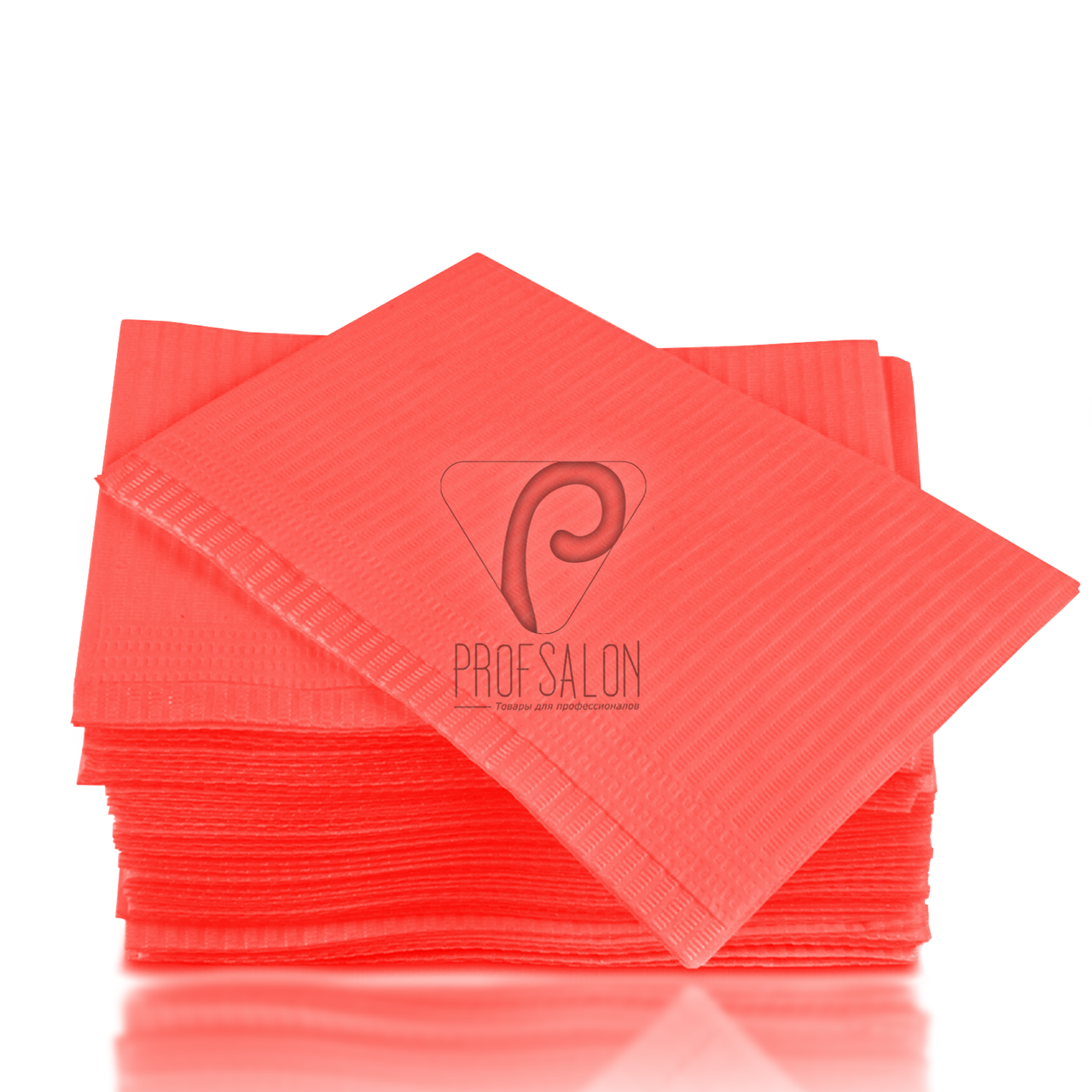 Стоматологические салфетки нагрудники непромокаемые, 125 шт, 45х32см, красные