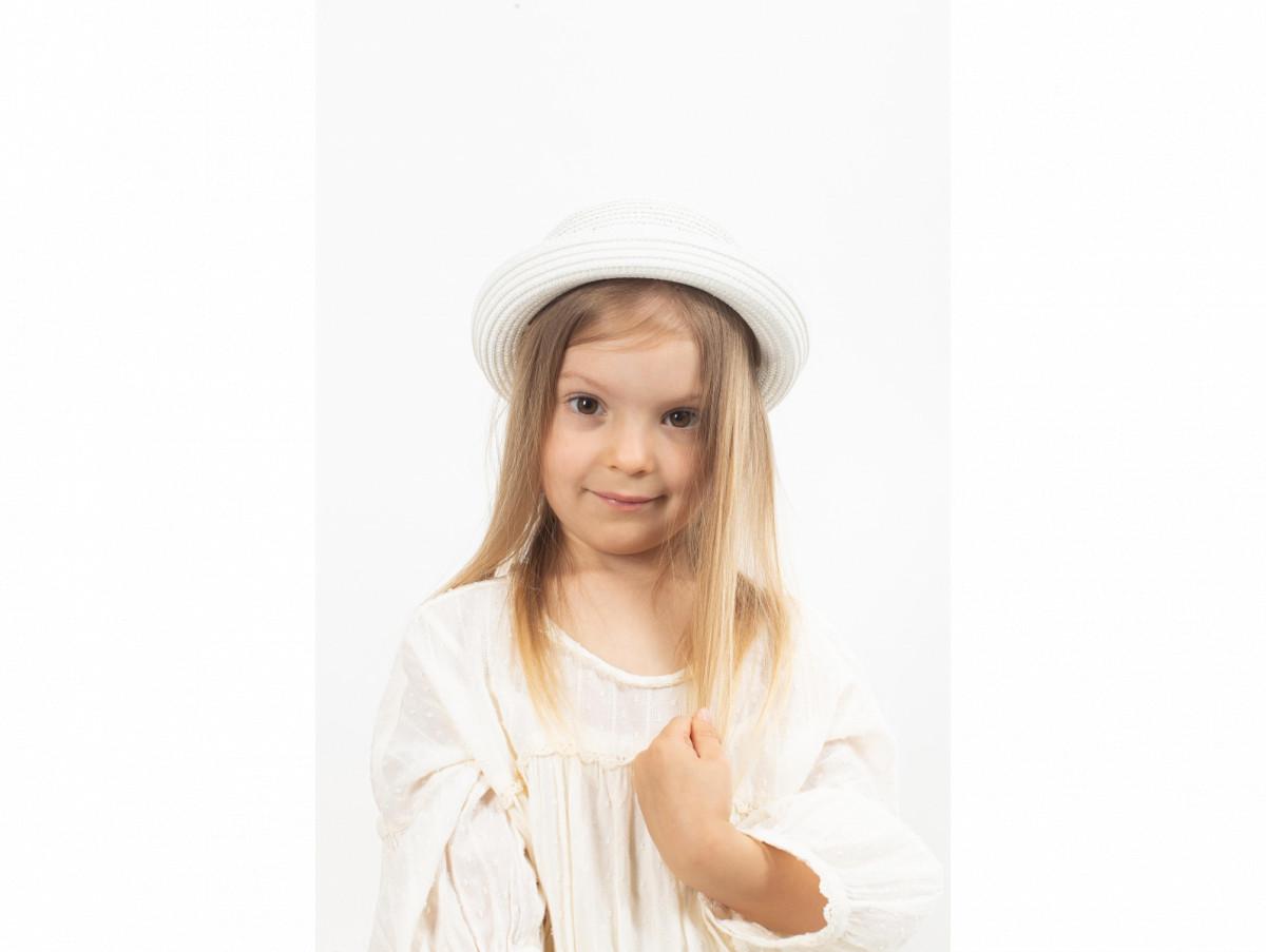 Детская шляпа Райт оптом белая
