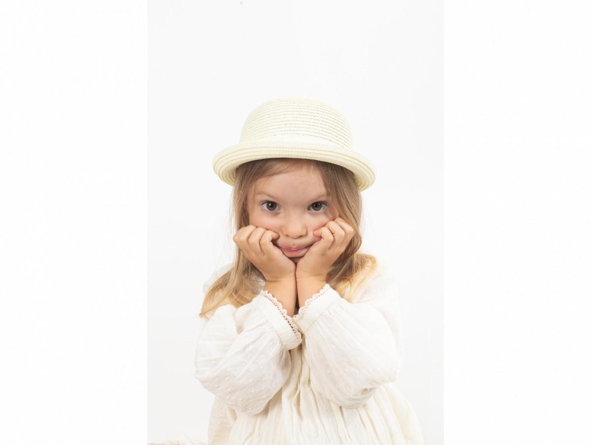Детская шляпа Райт оптом молочная