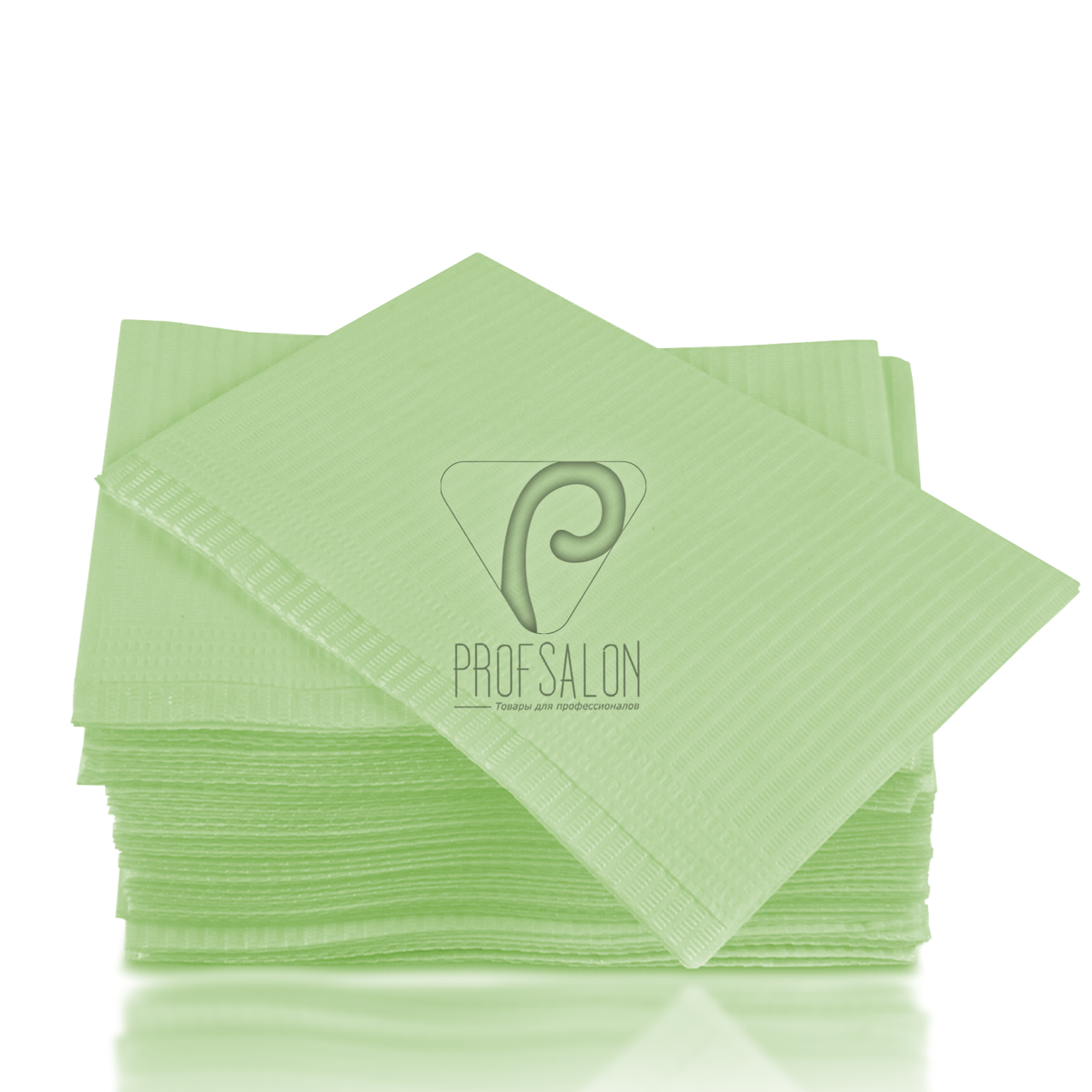Стоматологические салфетки нагрудники непромокаемые, 500 шт, 45х32см, зеленые