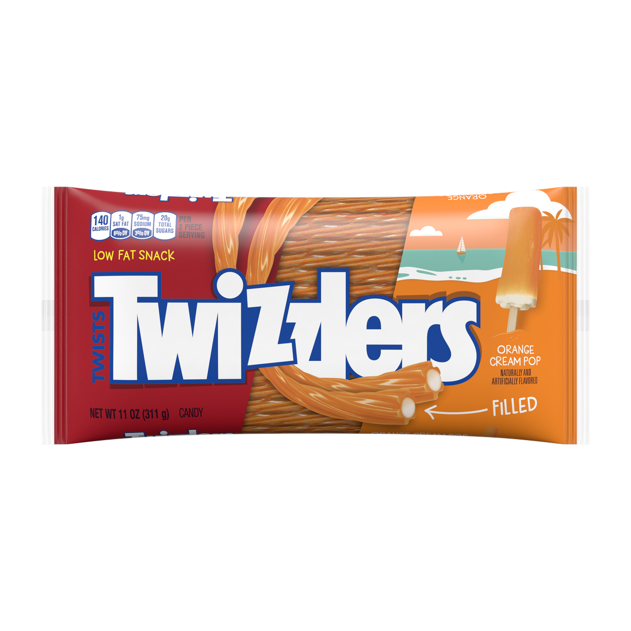 Twizzlers Orange Cream Pop 311 g