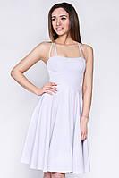 """Элегантное летнее платье с пышной юбкой - светло-серое """"S"""" (15452.3.1)"""