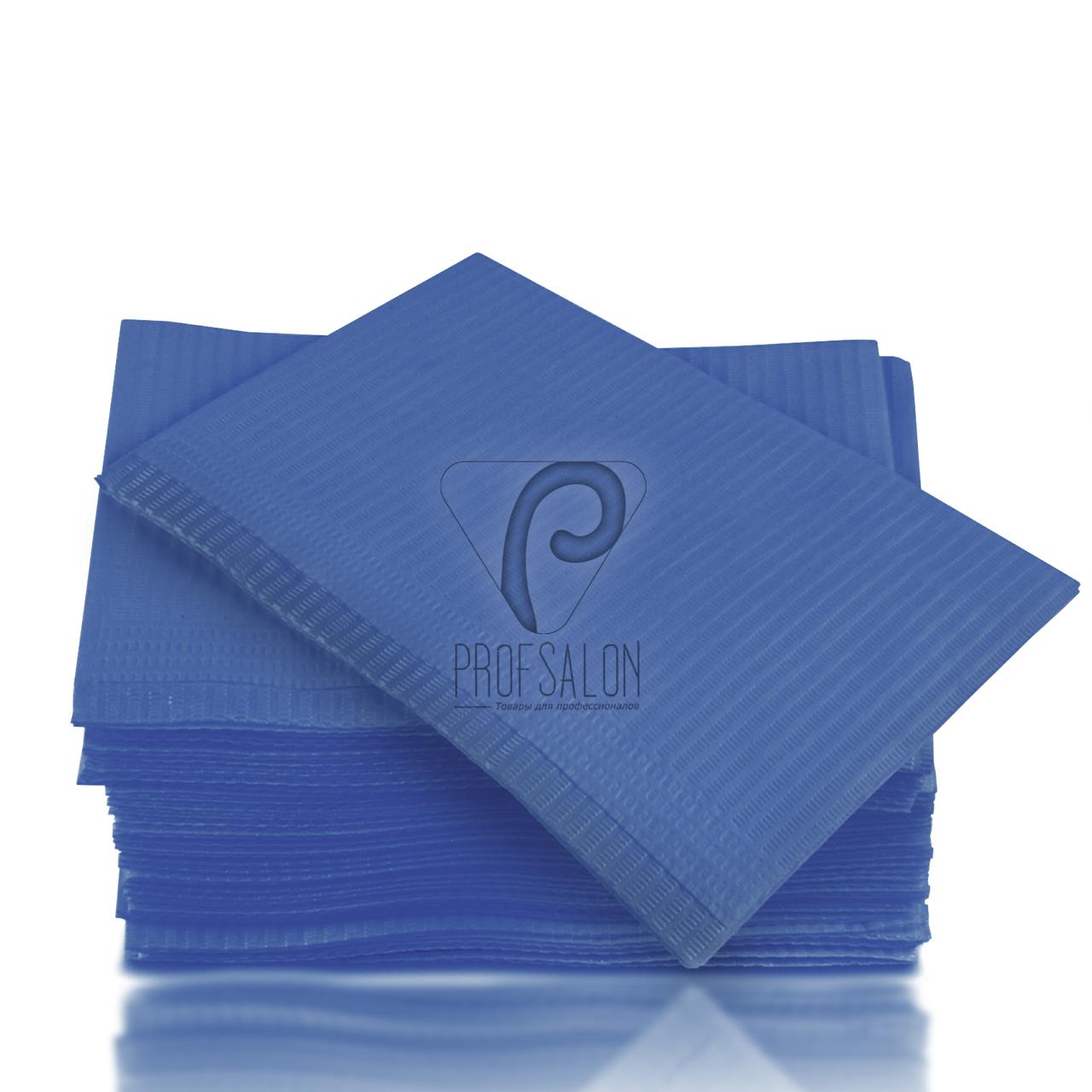 Непромокаемые салфетки на рабочий стол мастера маникюра, 125 шт, 45х32см, синие