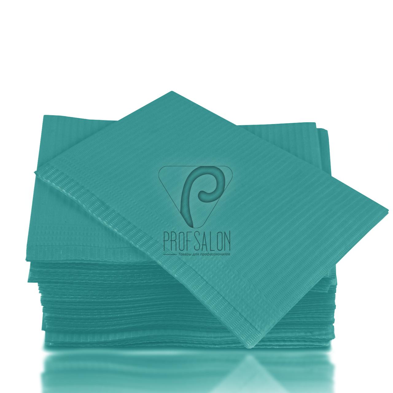 Непромокаемые салфетки на рабочий стол мастера маникюра, 125 шт, 45х32см, аква