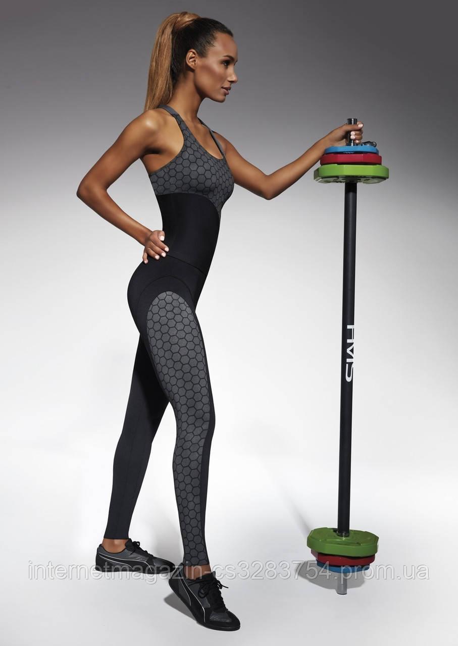 Женский костюм для фитнеса Bas Bleu Escape M Черно-серый (bb0138)