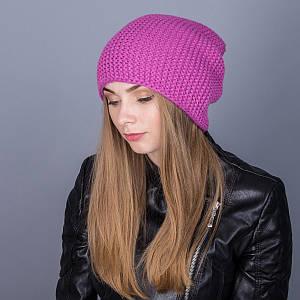 Женская шапка-чулок крупной вязки из ангорки на зиму - Артикул 7026