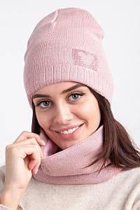 Женский вязаный комплект на теплую зиму - Артикул 2548 оптом
