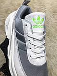 Мужские кроссовки Adidas Sharks White Gray, мужские кроссовки адидас шарк, фото 5