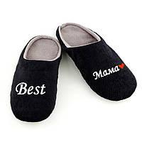Домашние тапочки шлепки Best Мама черная багира 40-41_склад, фото 1