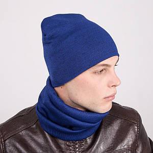 Зимний мужской комплект из шапки и хомута - Артикул k1a