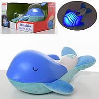 Детскиймузыкальный ночник-проектор Дельфин, голубой