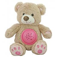 """Проектор ночник детский музыкальный """"Мишка"""" 25 см. Baby Mix STK-18956, розовый"""