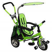 Велосипед с ручкой трехколесный Alexis Safari 360 WS-611, зеленый (5987). Подарки детям на День Рождения